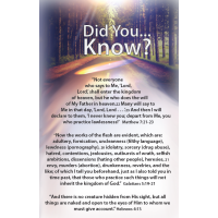 Gospel Tract - Did You Know? 100 Pack